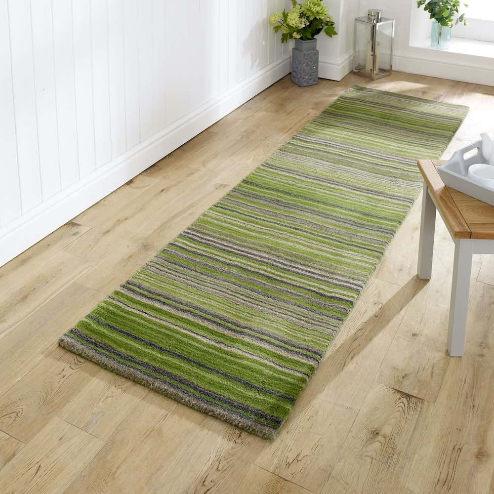 Carter Green Stripe Runner