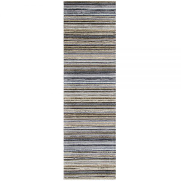 Carter Grey Stripe Runner