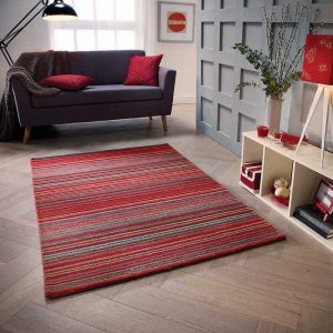 Red stripe rug