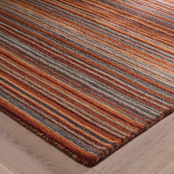 Rust stripe rug