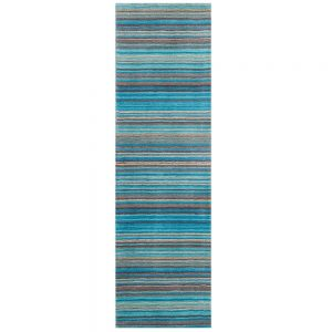 Carter Teal Stripe Runner