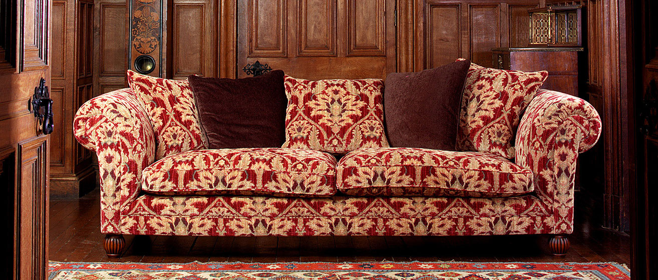 tetrad red and cream sofa