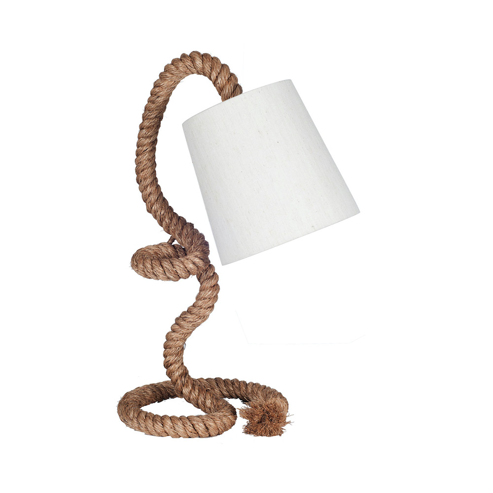 Angled Rope Table Lamp