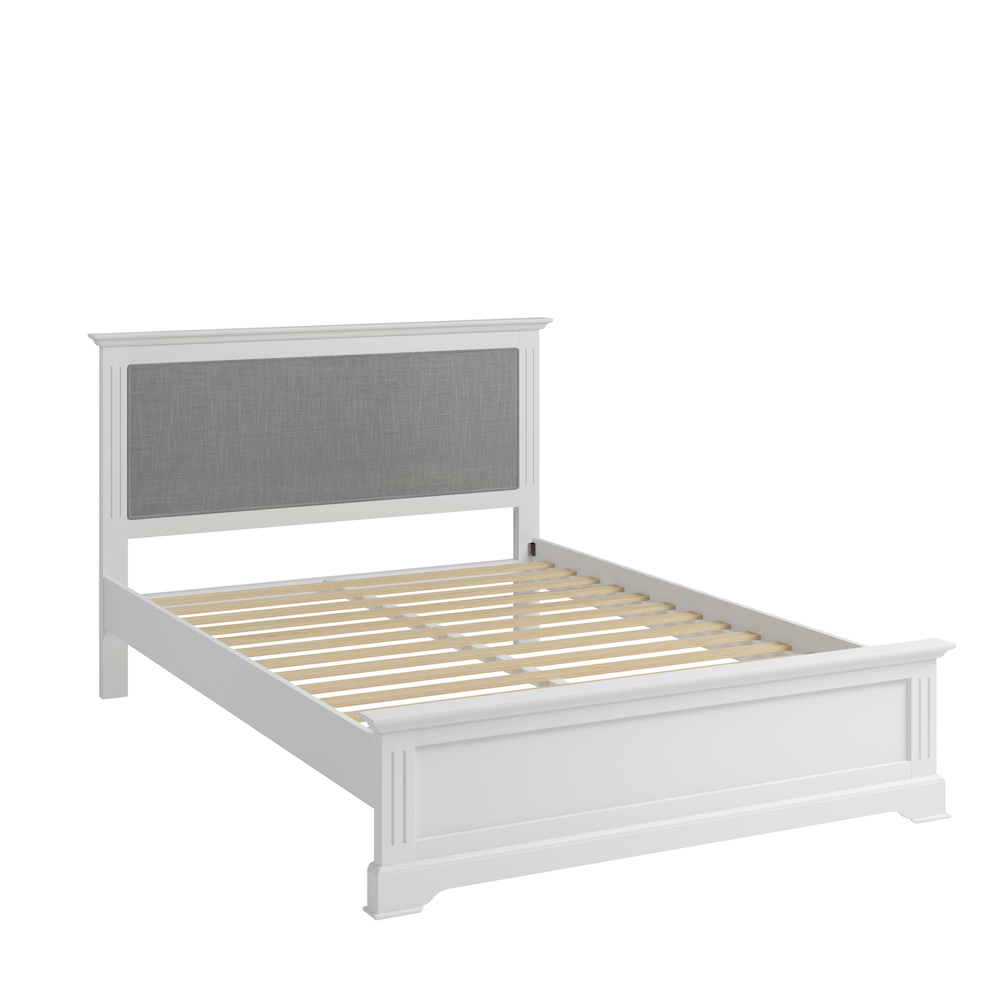 Bordeaux 4ft6 white wood bed