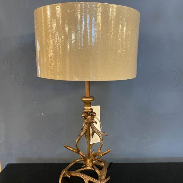 Copper Antler Table Lamp