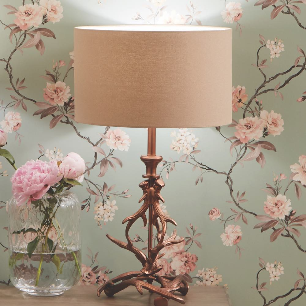 Copper Antler Table Lamp Lifestyle image