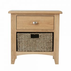 Galaxy Oak 1 Drawer 1 Basket Unit