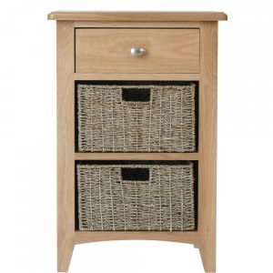Galaxy Oak 1 Drawer 2 Basket Unit