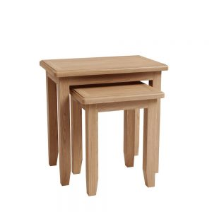 Galaxy Oak 2 Nest Tables
