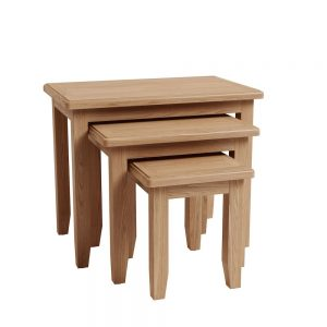 Galaxy Oak 3 Nest Tables