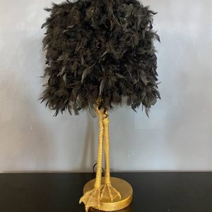 Gold Leg Bird Table Lamp