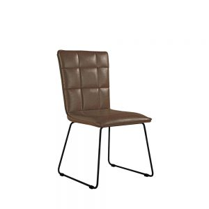 Idaho Panel Back Chair Brown