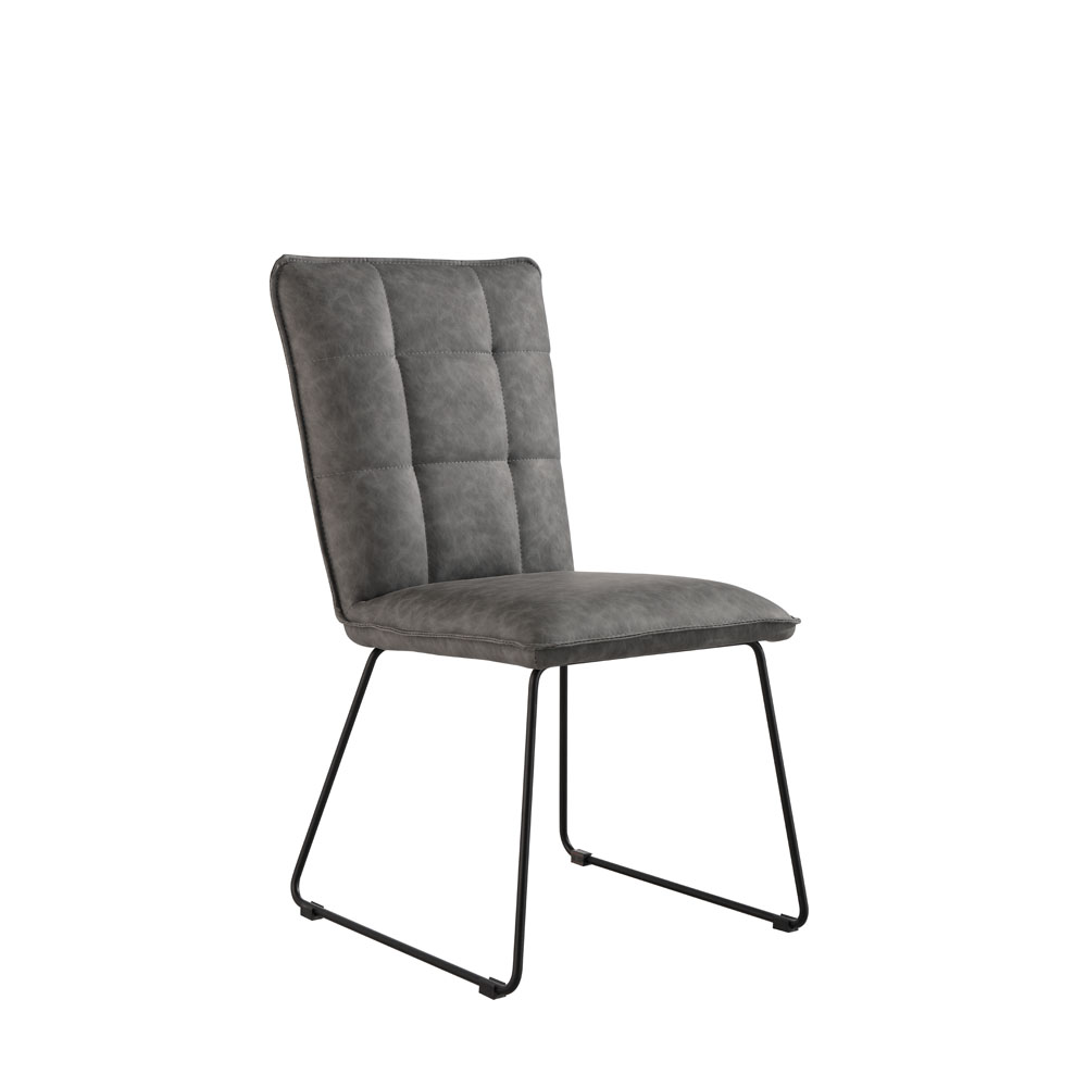 Idaho Panel Back Chair Grey