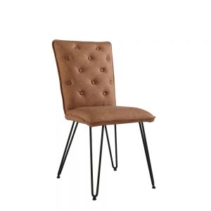 Idaho Studded Back Chair Tan.