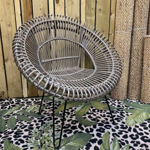 Grey Rattan Nesting Chair