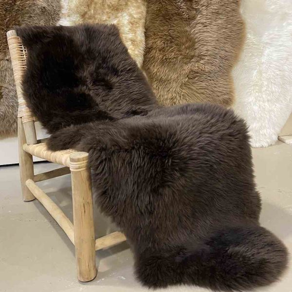 Dark Brown Sheepskin Rug