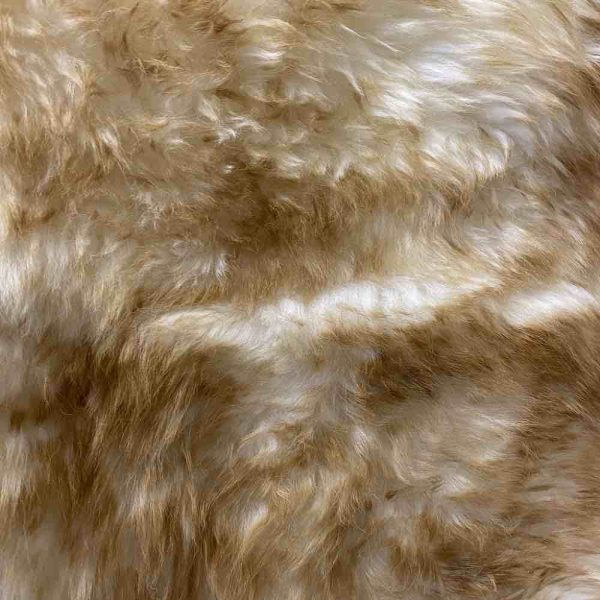 Ivory Tipped Sheepskin Rug close-up