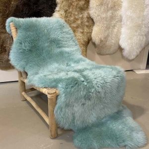 Mint Green Sheepskin Rug