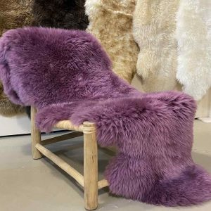 Purple Sheepskin Rug