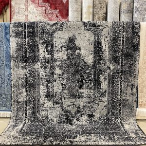 Paintage Pearl Black Rug