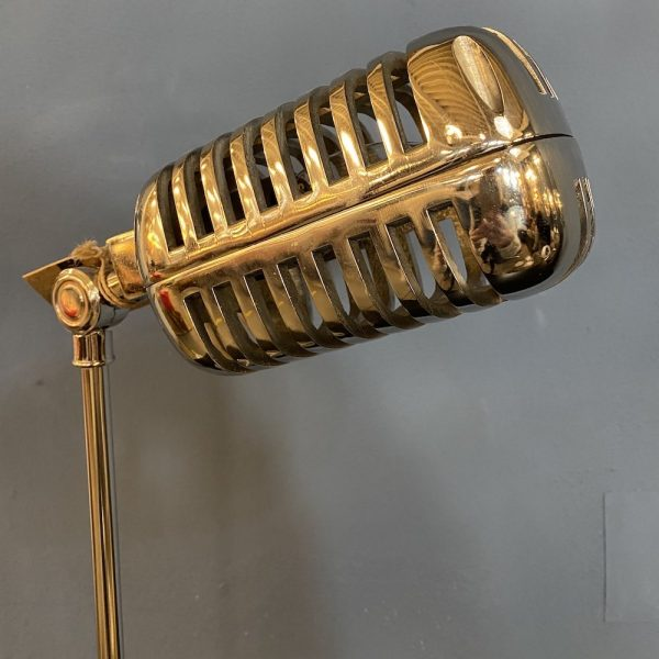Silver Microphone Table Lamp close-up