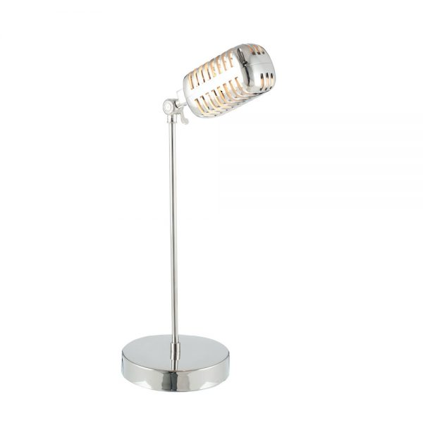 Silver Microphone Table Lamp