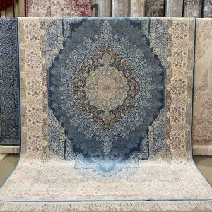 Vartian Silk River Blue Rug