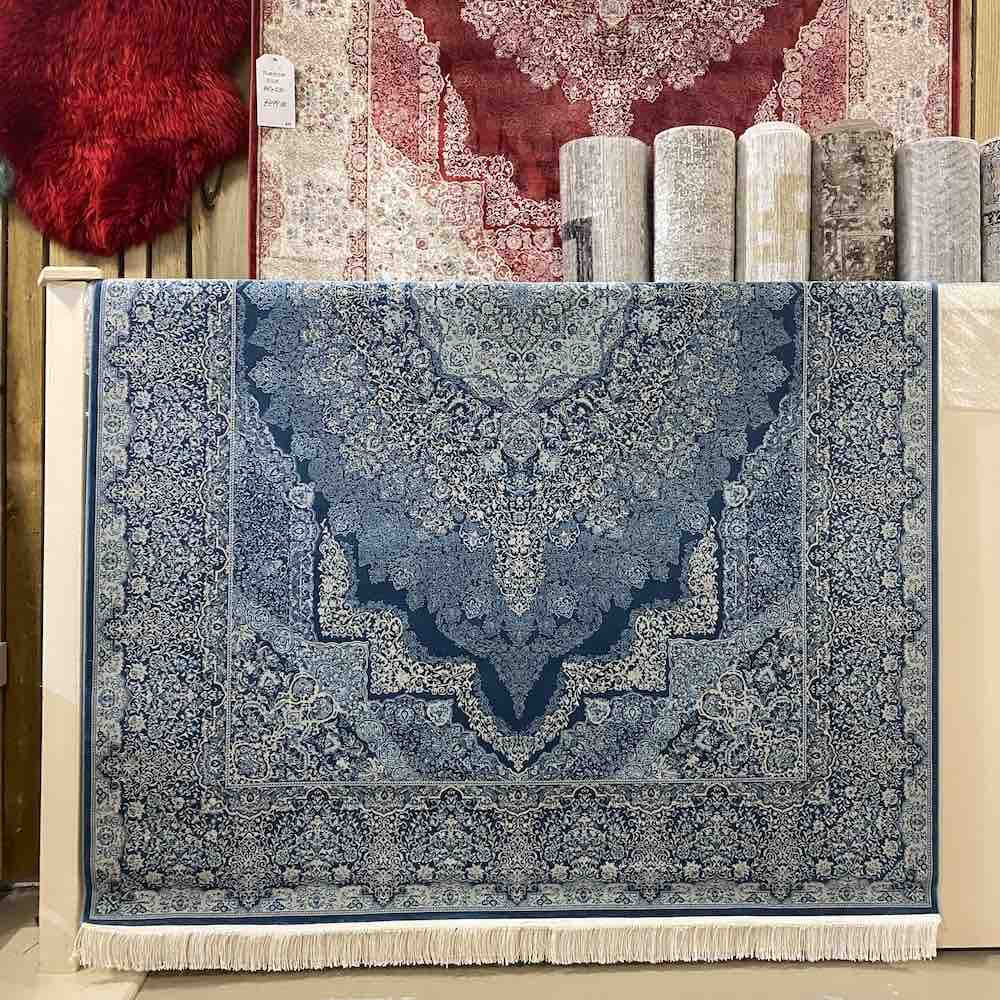 Vartian Silk Blue Glow Rug