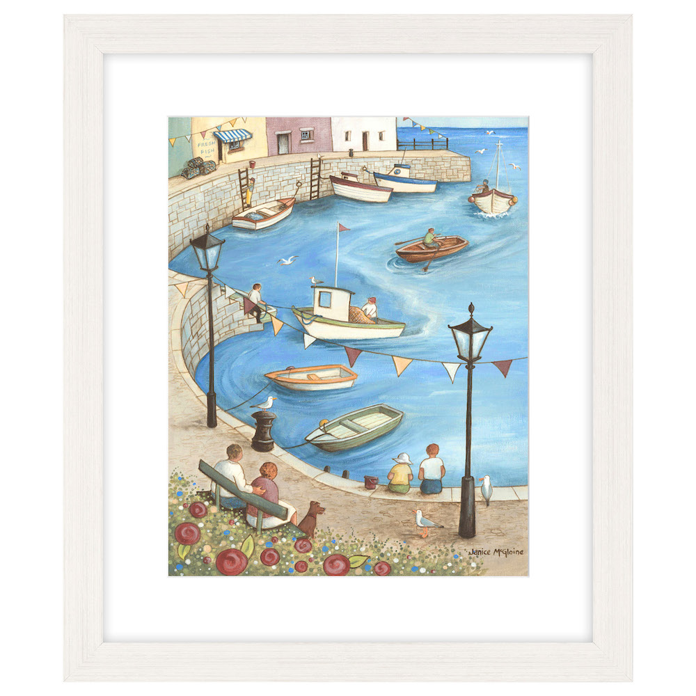 A Day at the Quay I by Janice McGloine