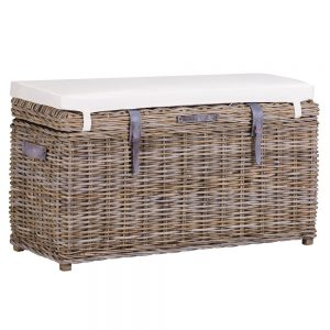 Chatham Natural Wicker Storage Bench