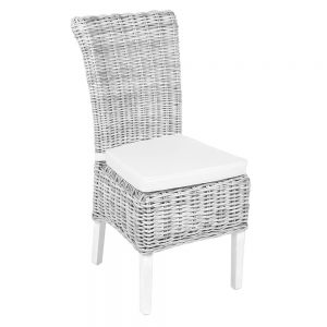 Chatham White Wash Wicker Dining Chair