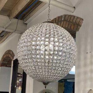Large Dome Crystal Chandelier
