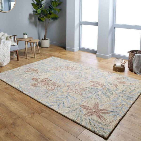 Gardenia Leaf Grey rug in lifestyle shot