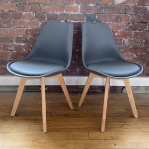 Grey Louvre Beech Breakfast Chair