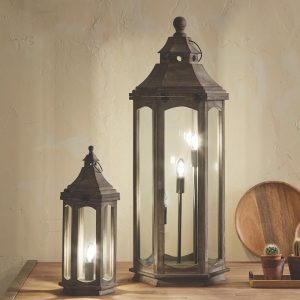 Grey Washed Wood Lantern range