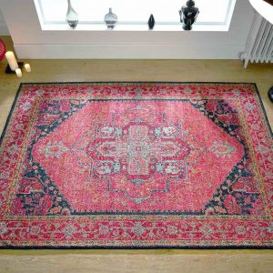 Kaleidoscope 1332S Pink Traditional Rug lifestyle image