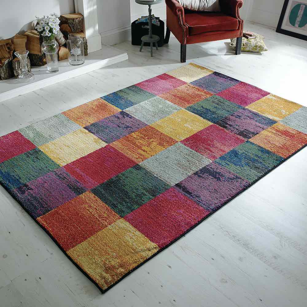 Kaleidoscope 566C Multi Coloured Rug