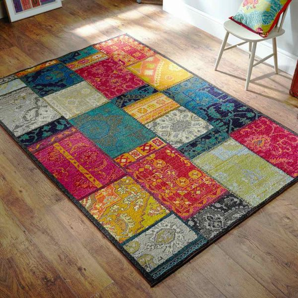 Kaleidoscope 9Z Multi coloured rug lifestyle image