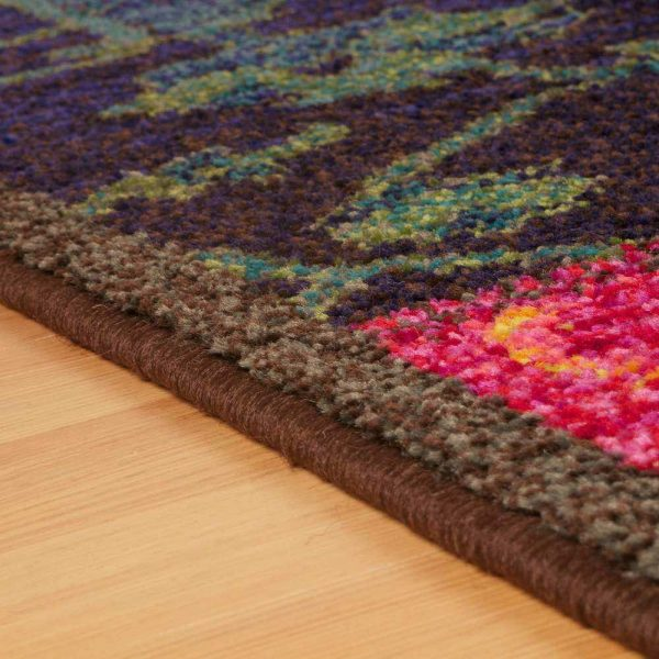 Kaleidoscope 9Z Multi coloured rug edge