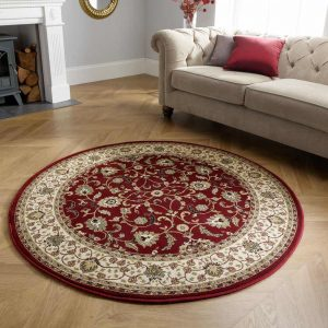 Kendra 137R Red Round Rug