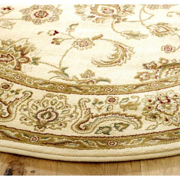 Kendra 2330X Cream Round Rug close-up