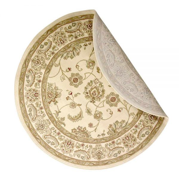 Kendra 2330X Cream Round Rug backing