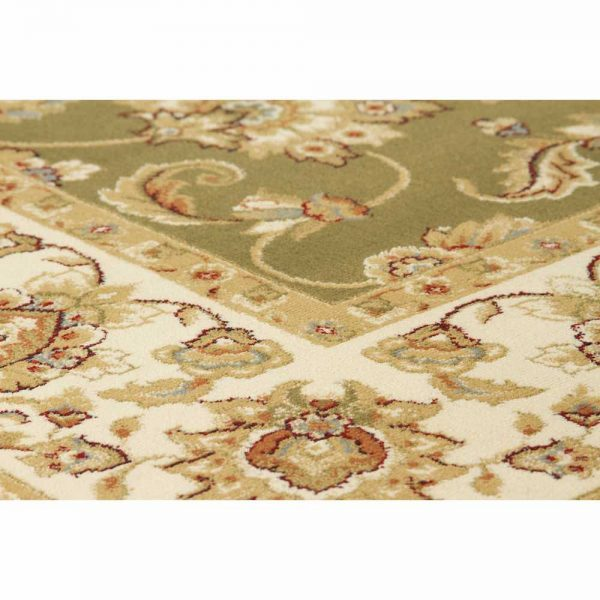 Kendra 3330G Green Traditional Rug close-up