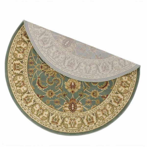 Kendra 45L Green Round Rug backing
