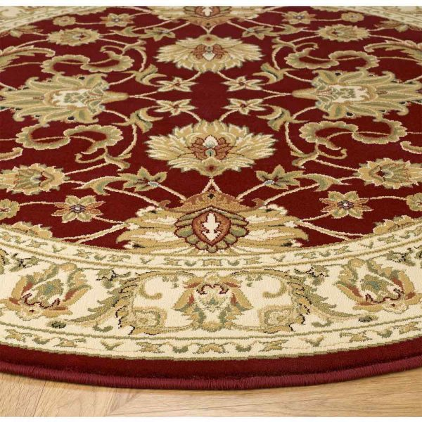 Kendra 45M Red Round Rug close-up