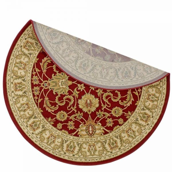 Kendra 45M Red Round Rug backing