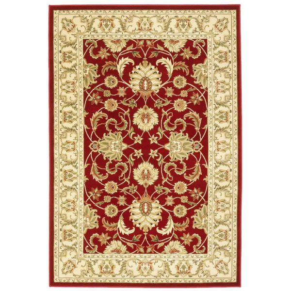 Kendra 45M Red Traditional Rug