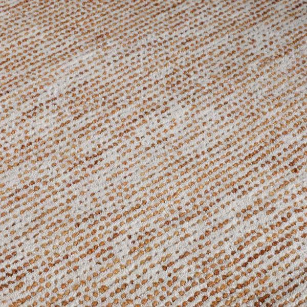Milano Terracotta Wool Rug close-up