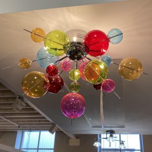 Multi-Coloured Bubble Ceiling Light