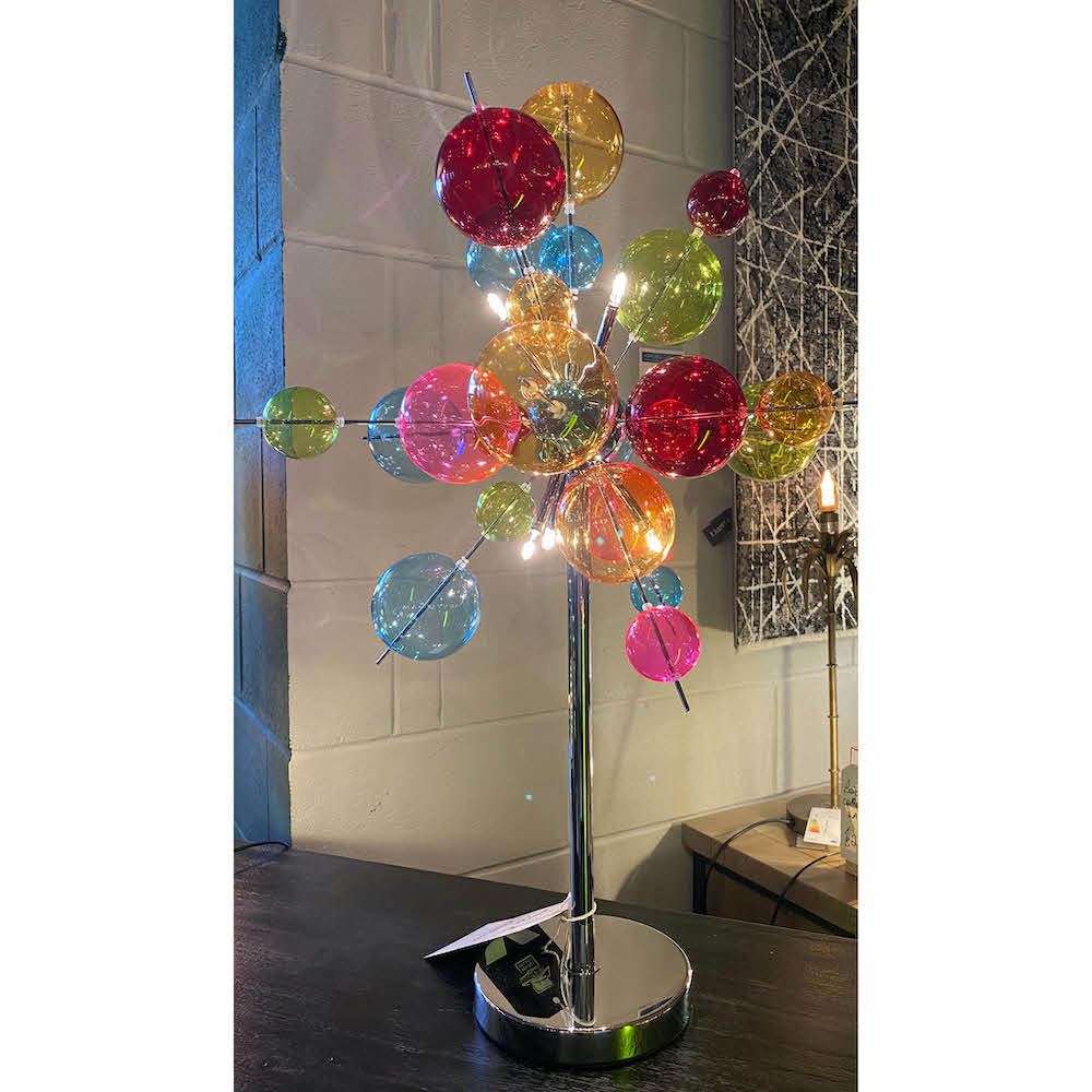 Multi-Coloured Bubble Table Lamp